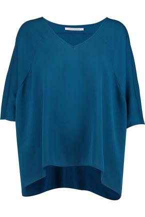 DIANE VON FURSTENBERG Elsi draped silk-crepe top