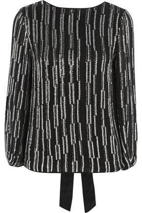 DIANE VON FURSTENBERG Evvy open-back embellished silk-chiffon top
