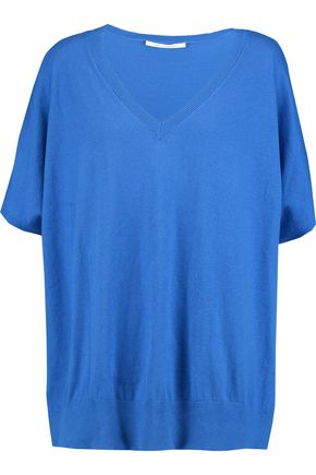 DIANE VON FURSTENBERG Honey cotton and silk-blend top