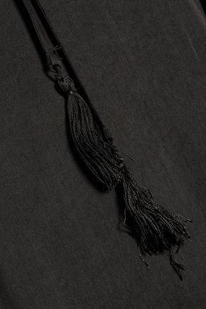 TART COLLECTIONS Adora snake-print satin-crepe top