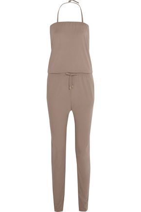 CALVIN KLEIN Strapless stretch-jersey jumpsuit