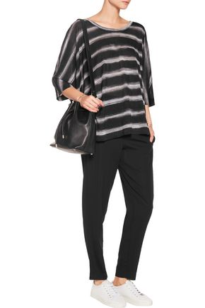 DKNY Oversized striped modal T-shirt