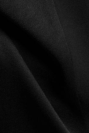 DKNY Asymmetric paneled satin-crepe top