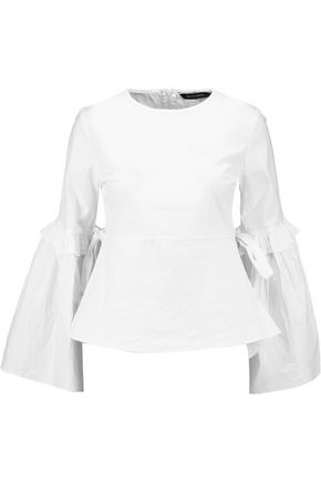 W118 by WALTER BAKER Lauren ruffle-trimmed cotton top
