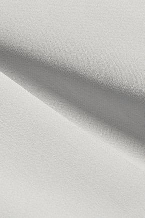 MILLY Cascade asymmetric silk-blend crepe de chine top