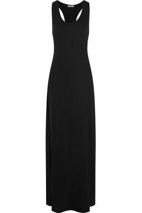CALVIN KLEIN Cotton and modal-blend jersey maxi dress