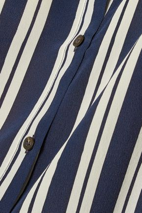 M.I.H JEANS Printed silk crepe de chine shirt