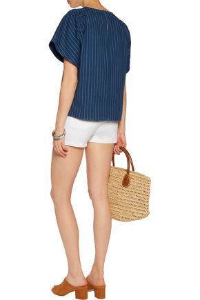M.I.H JEANS Mina striped cotton top