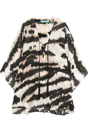 MELISSA ODABASH Kris zebra-print muslin kaftan