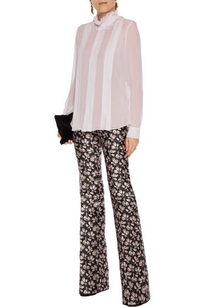 GIAMBATTISTA VALLI Pleated silk shirt