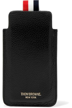 THOM BROWNE Textured-leather iPhone 7 case