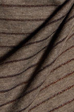 BRUNELLO CUCINELLI Metallic striped wool-blend top
