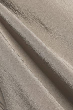 BRUNELLO CUCINELLI Chain-trimmed stretch-silk tunic