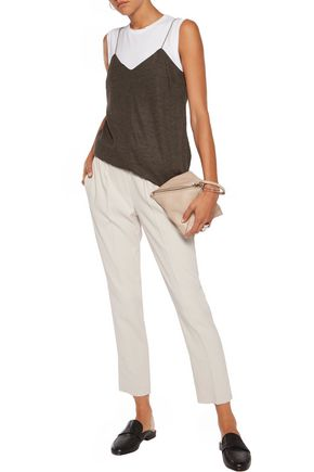 BRUNELLO CUCINELLI Layered wool top