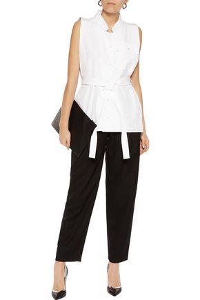 MAISON MARGIELA Belted cotton-poplin shirt