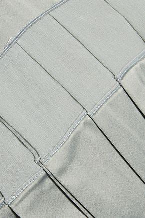 MAISON MARGIELA Georgette-trimmed satin-twill camisole