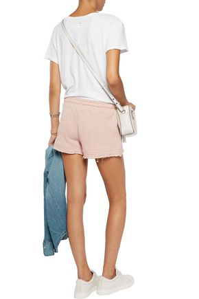 SPLENDID Frayed cotton shorts