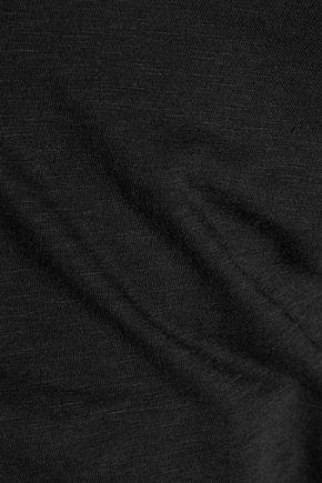 SPLENDID Cutout stretch-Supima cotton and Micro Modal-blend top