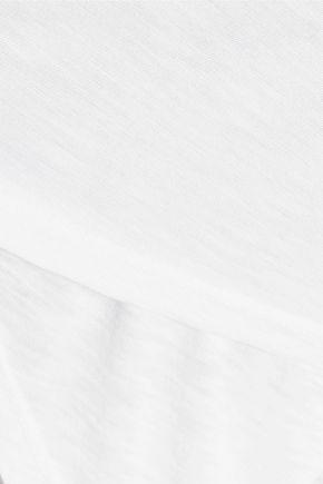 SPLENDID Wrap-effect slub Supima cotton and Micro Modal-blend top