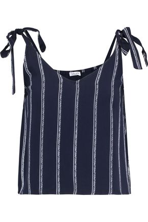 SPLENDID Striped brushed-jersey top