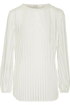 ZIMMERMANN Lavish striped chiffon top
