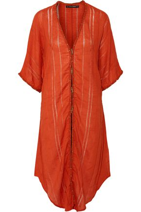 VIX PAULAHERMANNY Embellished cotton-gauze kaftan