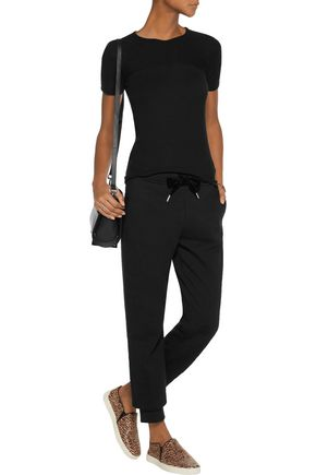 T by ALEXANDER WANG Ribbed stretch-modal top
