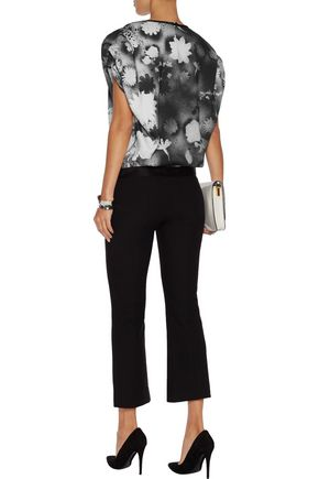 CHRISTOPHER KANE Printed crepe de chine top