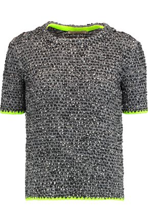CHRISTOPHER KANE Bouclé wool-blend top