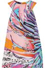 EMILIO PUCCI Printed silk-georgette top
