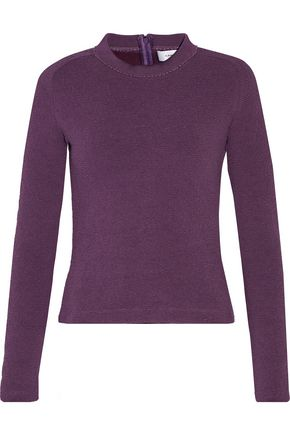 CARVEN Cotton-blend matelassé sweater