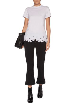 CARVEN Embroidered cotton-jersey top