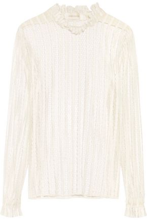ZIMMERMANN Striped lace blouse