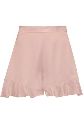 ZIMMERMANN Ruffled brushed-silk shorts