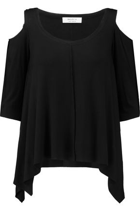 BAILEY 44 Cold-shoulder asymmetric jersey top