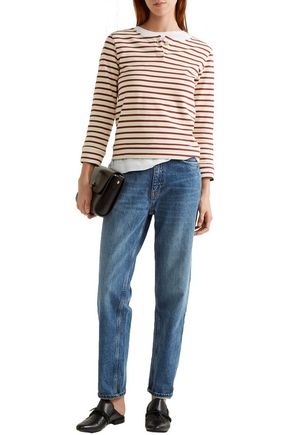 A.P.C. Veronica striped cotton-jersey top