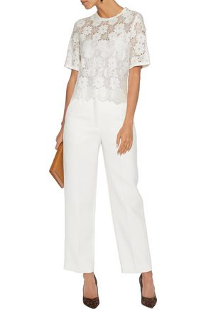 SANDRO Corded lace top