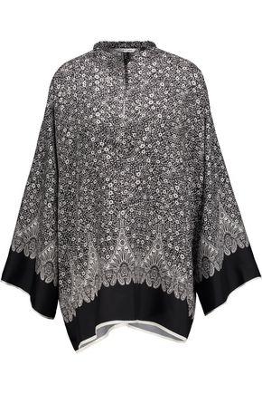 HELMUT LANG Floral-print silk kimono top