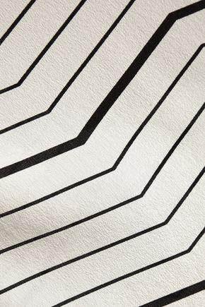 THEORY Kalstinn striped silk-chiffon top