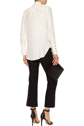 J BRAND Delorna pussy-bow silk blouse