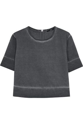 J BRAND Sanora cropped cotton sweatshirt
