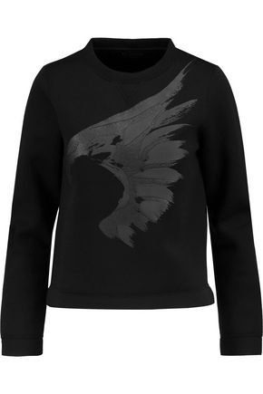 VALENTINO Printed stretch-modal sweater