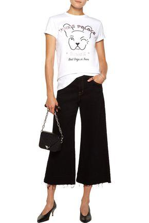 ÊTRE CÉCILE Pink's Palace Diner metallic printed cotton-jersey T-shirt