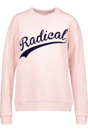 ÊTRE CÉCILE Radical Boyfriend flocked cotton-fleece sweatshirt
