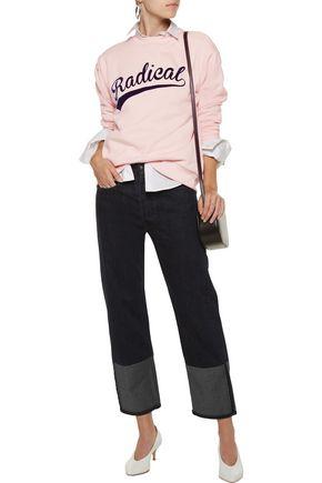 ÊTRE CÉCILE Radical Boyfriend flocked cotton-fleece sweatshirt