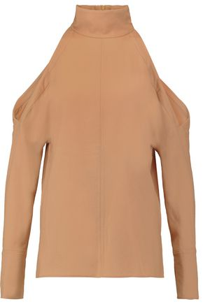 TIBI Winston cutout wool turtleneck top
