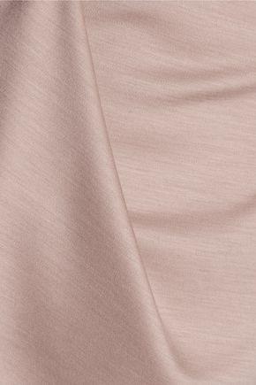 TIBI Asymmetric wool-jersey top