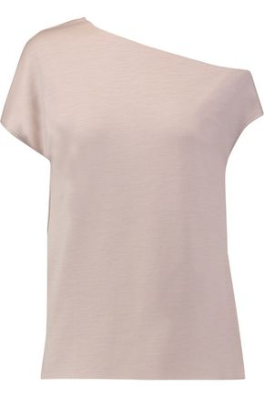 TIBI Asymmetric wool-jersey top