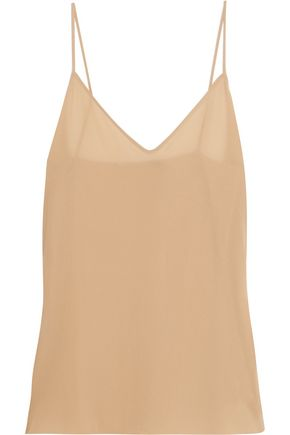 AGNONA Silk-blend crepe tank