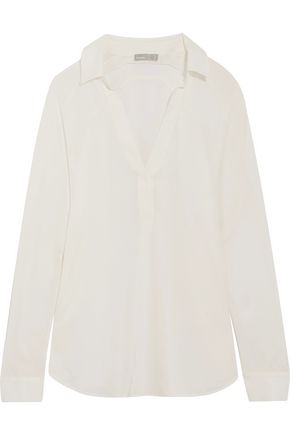 VINCE. Oversized silk shirt